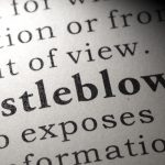 The word Whistleblower in a book