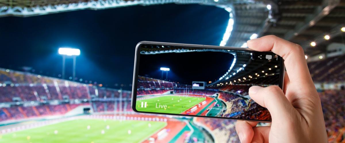 Phone is football stadium