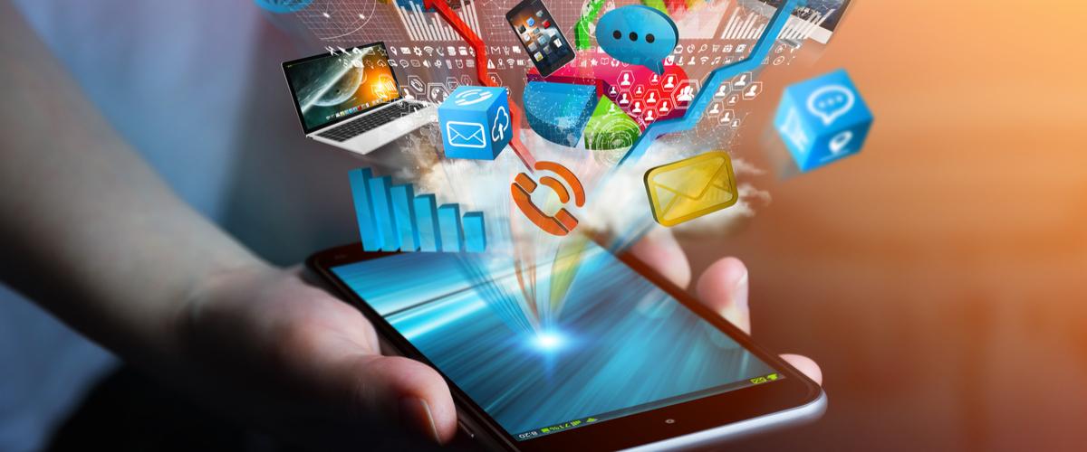 Apps die uit een telefoon zweven