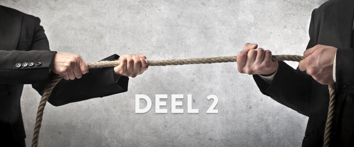 Twee aandeelhouders in conflict die aan het touwtrekken zijn