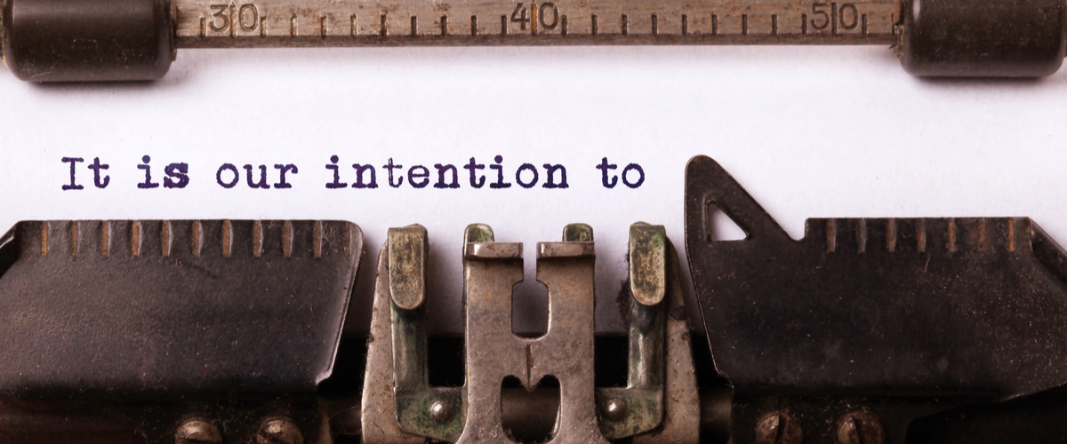 """typemachine die """" it is our intention to..."""" typt"""
