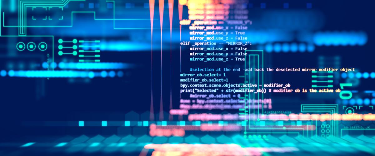 Computer code bij software ontwikkeling