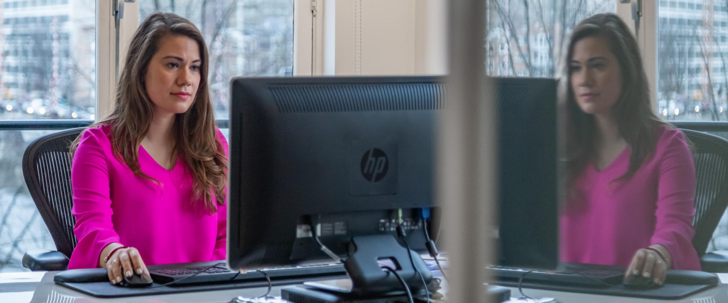 Sophie Boots op haar werkplek
